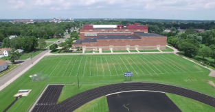 Riley High School and track, from the south side