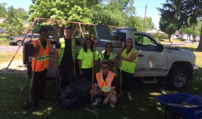 The team appreciated the help from the Parks and Recreation Department!